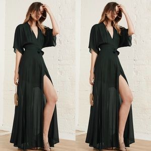 Reformation Winslow Dress in Evergreen Size small